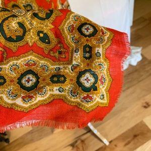 cambridge spirit Accessories - Vintage 80's Cambridge spirit ornate wool scarf